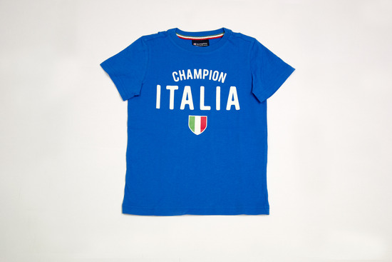T-Shirt Italia Bambino Blu